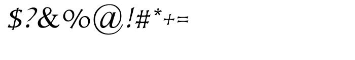 Kiev Medium Italic Font OTHER CHARS