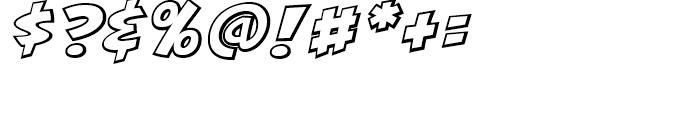 KillJoy Outline Italic Font OTHER CHARS