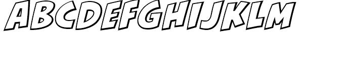 KillJoy Outline Italic Font UPPERCASE