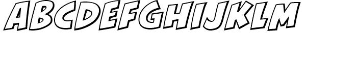 KillJoy Outline Italic Font LOWERCASE