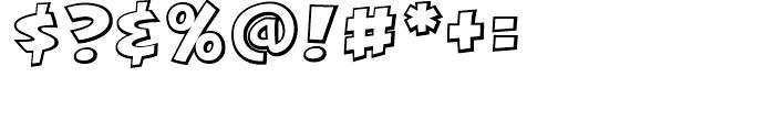 KillJoy Outline Regular Font OTHER CHARS