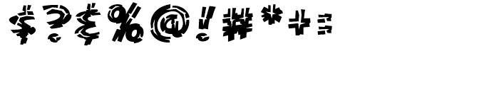 KillZone Inline Regular Font OTHER CHARS