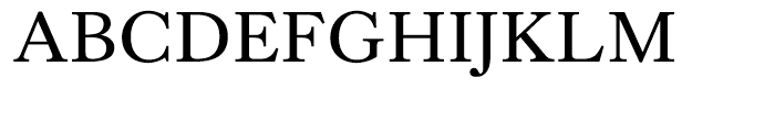 Kings Caslon Regular Font UPPERCASE