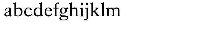 Kings Caslon Regular Font LOWERCASE