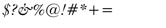 Kis Italic Font OTHER CHARS