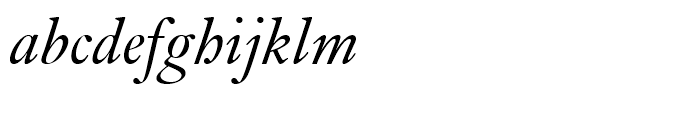 Kis Italic Font LOWERCASE