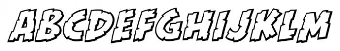 Kill Zone Outline Italic Font LOWERCASE