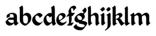 Kingthings Petrock Pro Regular Font LOWERCASE
