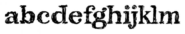 Kingthings Scrybble Pro Regular Font LOWERCASE