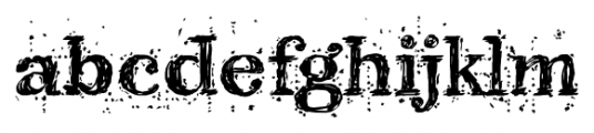 Kingthings Scrybbledot Pro Regular Font LOWERCASE