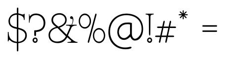 Kingthings Serifique Pro Thin Font OTHER CHARS