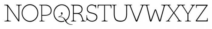 Kingthings Serifique Pro Thin Font UPPERCASE