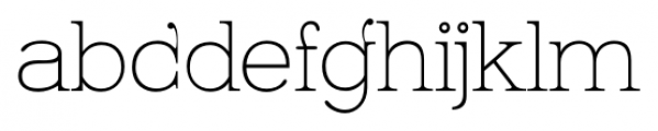 Kingthings Serifique Pro Thin Font LOWERCASE