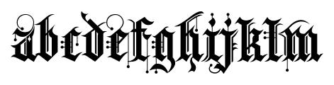 Kingthings Spike Pro Regular Font LOWERCASE