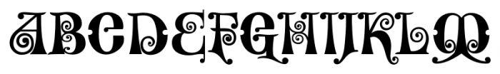 Kingthings Willowless Pro Regular Font UPPERCASE