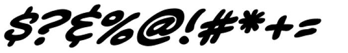 Kickback Bold Italic Font OTHER CHARS