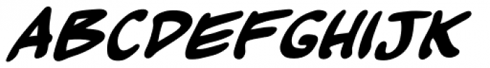 Kickback Bold Italic Font UPPERCASE