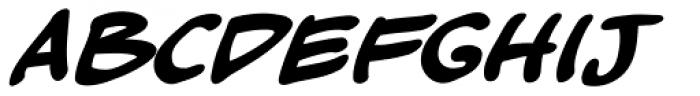 Kickback Bold Italic Font LOWERCASE
