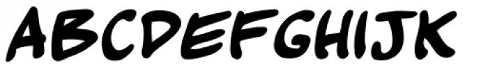 Kickback Bold Font UPPERCASE