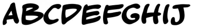 Kickback Bold Font LOWERCASE