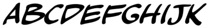 Kickback Italic Font LOWERCASE