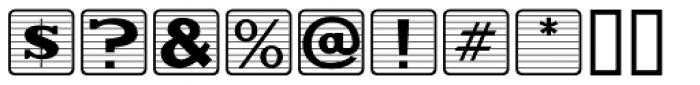 Kiddie Blokz Lined JNL Font OTHER CHARS