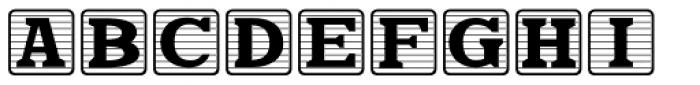 Kiddie Blokz Lined JNL Font UPPERCASE