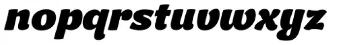 Kiddy Kitty ExtraBold Italic Font LOWERCASE