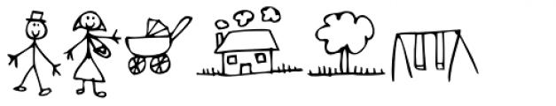 Kidwriting Dingbats 3 Font UPPERCASE