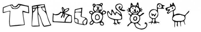 Kidwriting Dingbats 3 Font LOWERCASE