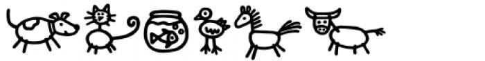 Kidwriting Pro Dingbats Bold Font UPPERCASE