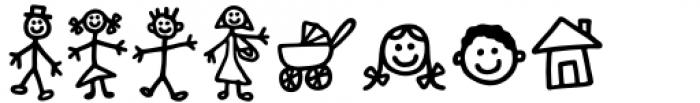 Kidwriting Pro Dingbats Bold Font LOWERCASE