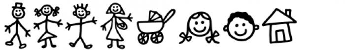 Kidwriting Pro Dingbats Demi Bold Font LOWERCASE