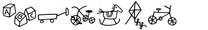 Kidwriting Pro Dingbats Light Font LOWERCASE