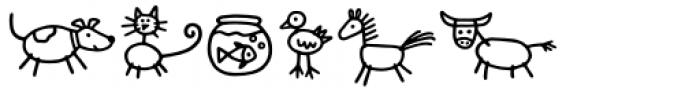Kidwriting Pro Dingbats Regular Font UPPERCASE