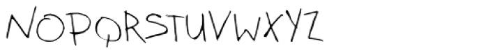 Kidwriting White Font UPPERCASE