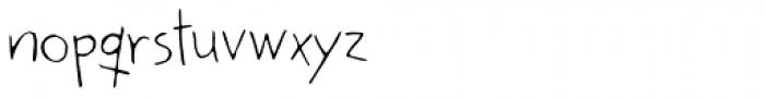 Kidwriting White Font LOWERCASE