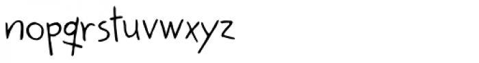 Kidwriting Font LOWERCASE