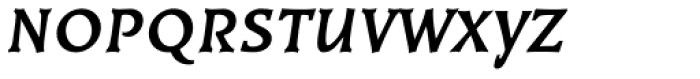 Kiev Bold Oblique SC Font LOWERCASE