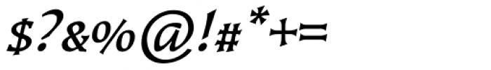Kiev Medium Italic SC Font OTHER CHARS
