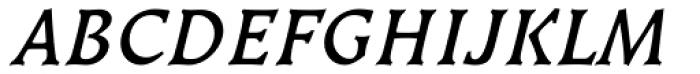Kiev Medium Italic SC Font UPPERCASE