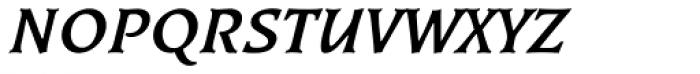 Kiev Medium Italic SC Font LOWERCASE