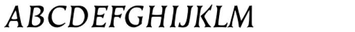 Kiev Oblique SC Font LOWERCASE