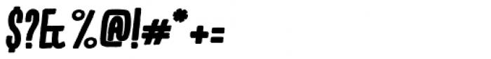 Kikster Black Italic Font OTHER CHARS