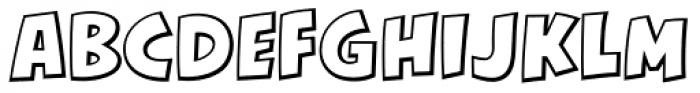 KillJoy Outline Regular Font UPPERCASE