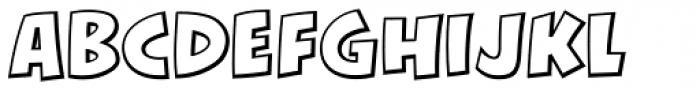 KillJoy Outline Regular Font LOWERCASE