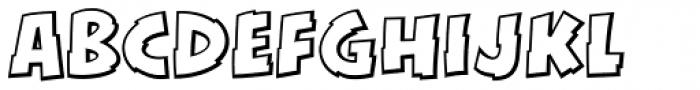 KillSwitch Outline Regular Font LOWERCASE