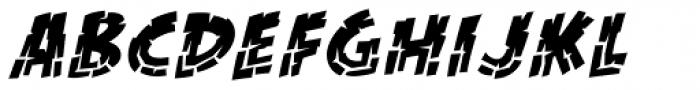 KillZone Inline Italic Font LOWERCASE