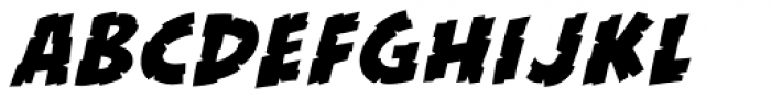 KillZone Italic Font LOWERCASE