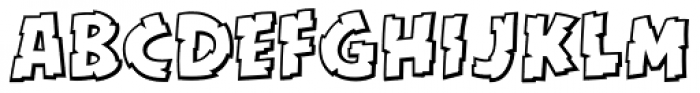 KillZone Outline Regular Font UPPERCASE